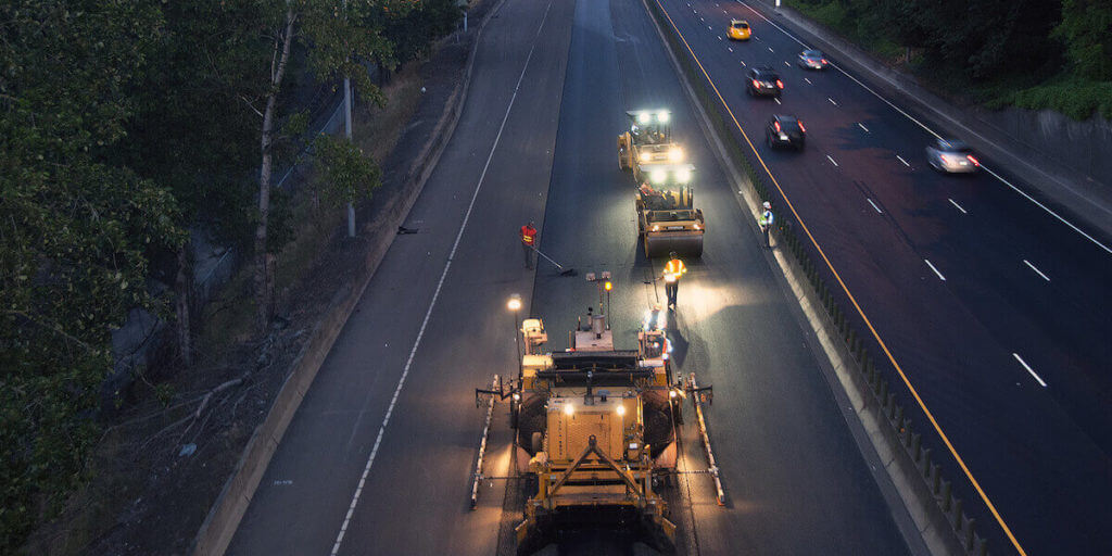Night Paving in Oregon (ODOT)